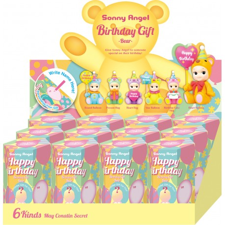 Happy Birthday Bear Sonny Angel boite de 12 pcs